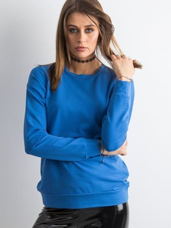 Jasnokobaltowa bluza damska basic