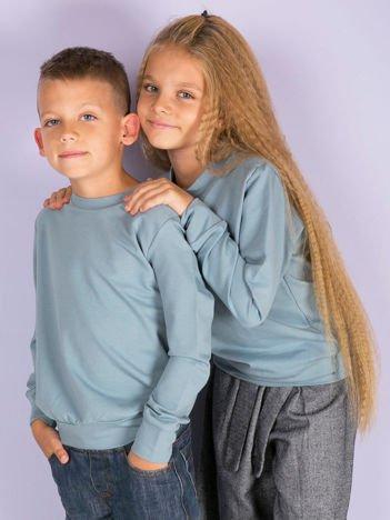 Jasnoniebieska gładka bluza dziecięca