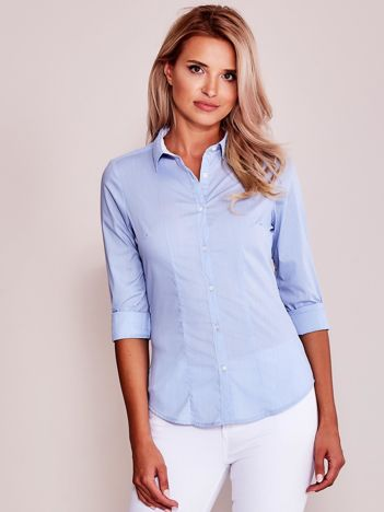 Jasnoniebieska gładka koszula damska