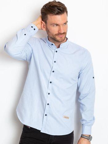 Jasnoniebieska koszula męska Option