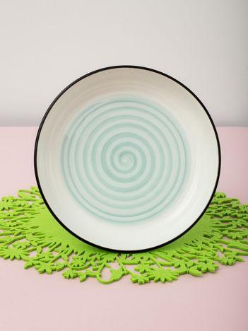 Jasnoniebieska miska ceramiczna