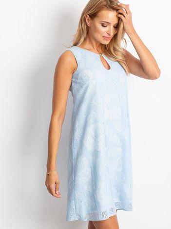 Jasnoniebieska sukienka Give