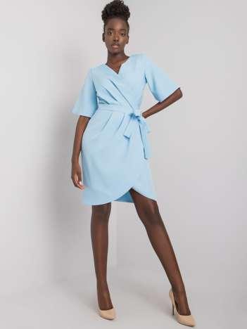 Jasnoniebieska sukienka koktajlowa Marivel