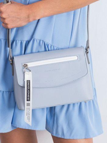 Jasnoniebieska torebka damska z ekoskóry