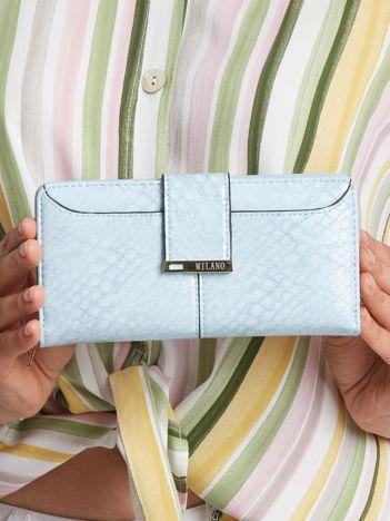 Jasnoniebieski portfel damski