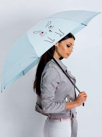 Jasnoniebieski składany parasol