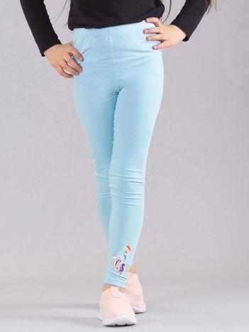 Jasnoniebieskie dziewczęce legginsy z nadrukiem MY LITTLE PONY