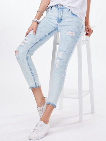Jasnoniebieskie jeansy damskie vintage