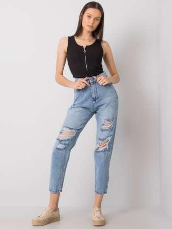Jasnoniebieskie jeansy z dziurami Binta