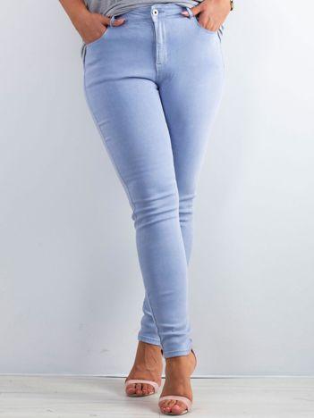 Jasnoniebieskie spodnie Destiny PLUS SIZE