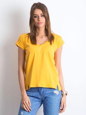 Jasnopomarańczowy t-shirt Vibes