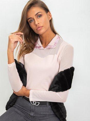 Jasnoróżowa bluzka Chastity