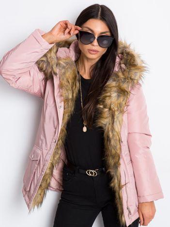 Jasnoróżowa kurtka Winter