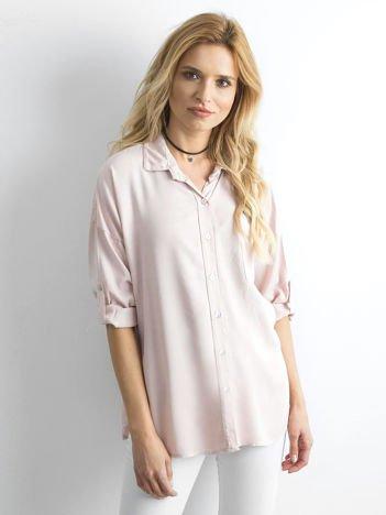 Jasnoróżowa luźna koszula