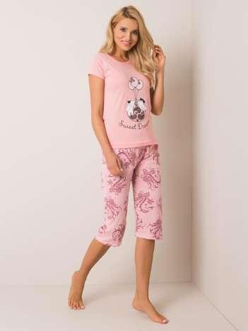 Jasnoróżowa piżama z bawełny