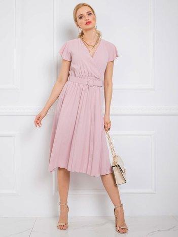 Jasnoróżowa sukienka Dalilah RUE PARIS