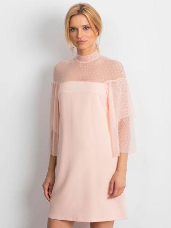 2d92173925 Jasnoróżowa sukienka Modern