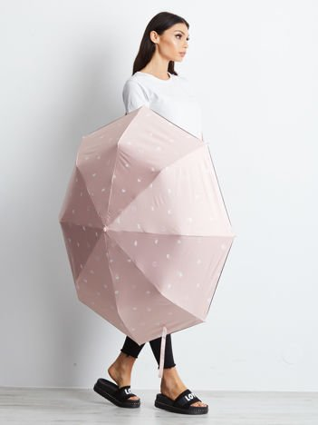 Jasnoróżowy automatyczny parasol