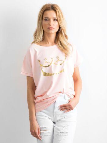 Jasnoróżowy t-shirt Kingdom