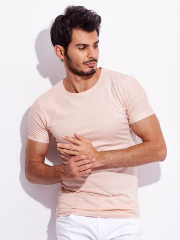 Jasnoróżowy t-shirt dla mężczyzny basic