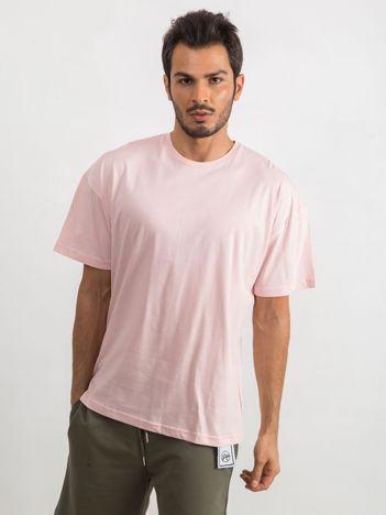 Jasnoróżowy t-shirt męski Overload