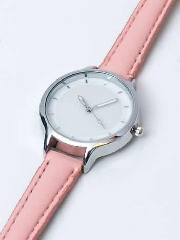 Jasnoróżowy zegarek damski