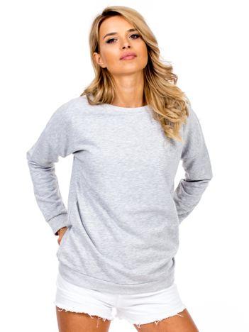 Jasnoszara bluza basic