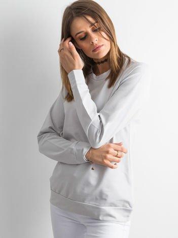 Jasnoszara bluza damska basic