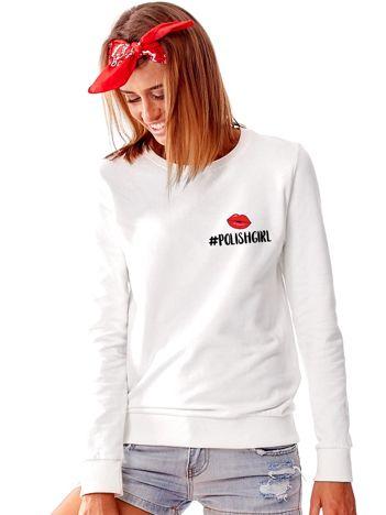Jasnoszara bluza damska z hashtagiem