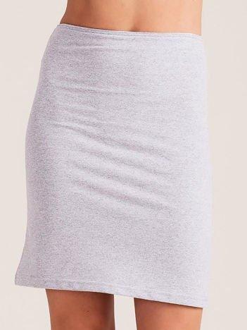 Jasnoszara dopasowana spódnica
