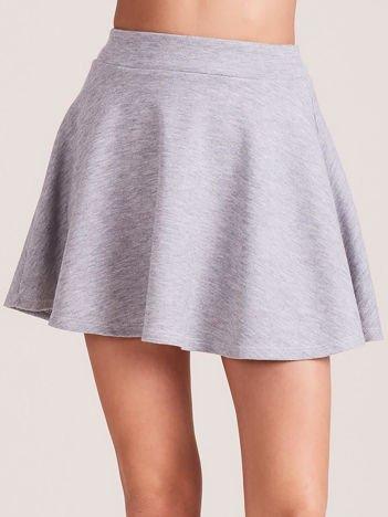 Jasnoszara rozkloszowana spódnica