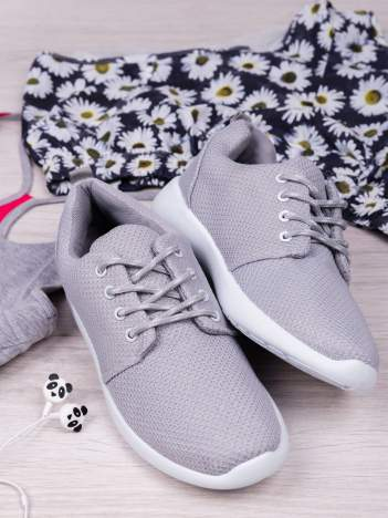 Jasnoszare buty sportowe textile Magnetic z tkaniny z uchwytem z tyłu