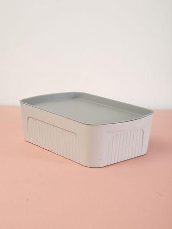 Jasnoszare pastelowe pudełko z pokrywką