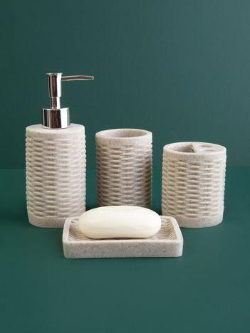 Jasnoszare przybory toaletowe