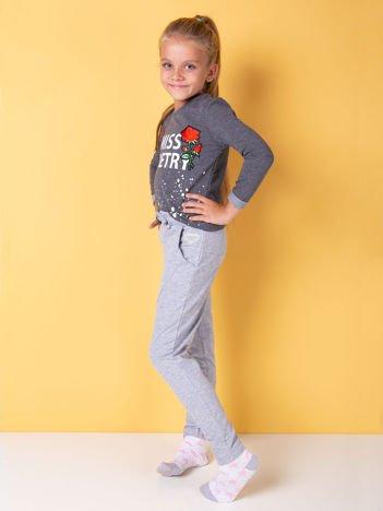 Jasnoszare spodnie dresowe dla dziewczynki