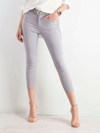 Jasnoszare spodnie skinny