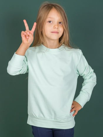 Jasnoturkusowa gładka bluza dziecięca
