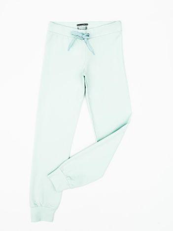 Jasnoturkusowe dresowe spodnie dziecięce