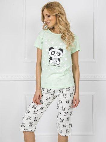 Jasnozielona bawełniana piżama