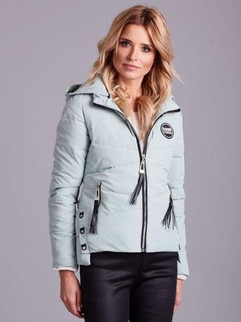 Jasnozielona pikowana kurtka przejściowa