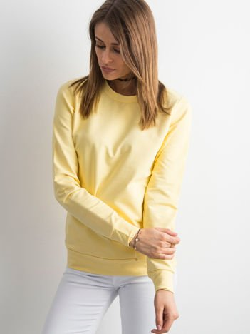 Jasnożółta bluza damska basic