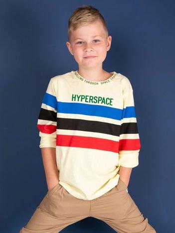 Jasnożółta bluzka dziecięca z nadrukiem