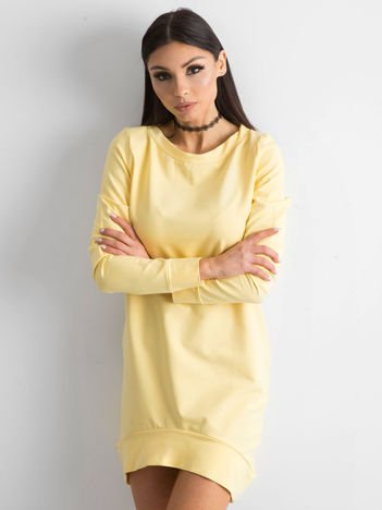 Jasnożółta dresowa tunika basic