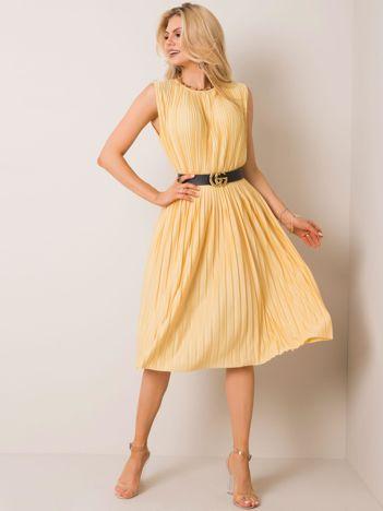 Jasnożółta sukienka Freeway RUE PARIS