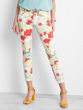 Jasnożółte spodnie Artistic