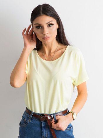 Jasnożółty bawełniany t-shirt