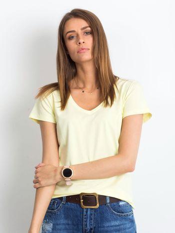 Jasnożółty t-shirt Square