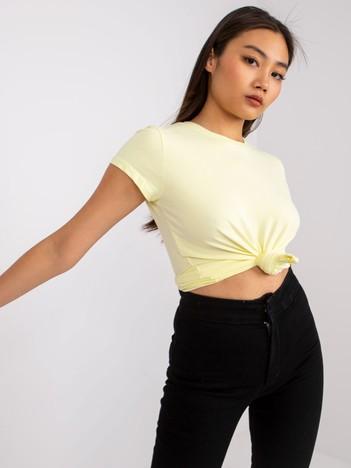 Jasnożółty t-shirt damski