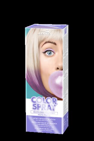Joanna COLOR SPRAY Pastelowy fioletowy 150ml