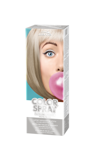 Joanna COLOR SPRAY Pastelowy srebrny 150ml